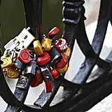 Love locks in Moscow, Russia.