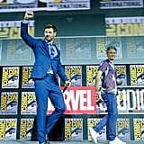 Pictured: Taika Waititi and Chris Hemsworth at San Diego Comic-Con.