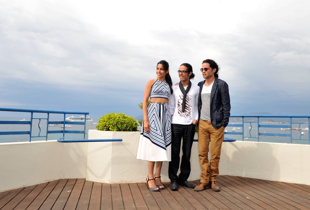 Freida Pinto and her costars linked up for the Desert Dancer photocall at the Cannes FIlm Festival.