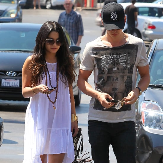 Vanessa Hudgens White High-Low Dress