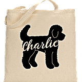 Love and a Doodle Custom Name Tote Bag ($20)