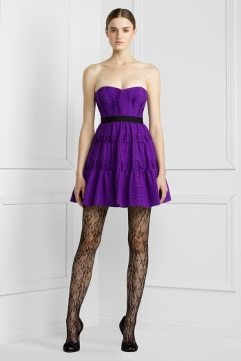 """""""Delicate jacquard can give a feeling of decadent luxury to a straightforward dress silhouette . . ."""