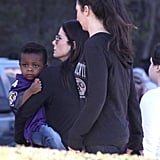Sandra Bullock and Louis attended the Super Bowl.