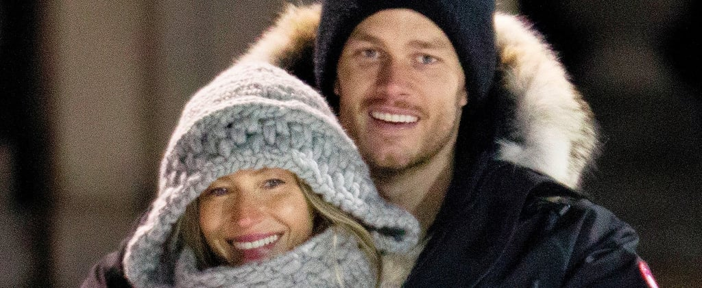 Gisele Bündchen Looks So in Love While Cuddling With Tom Brady at a Hockey Match
