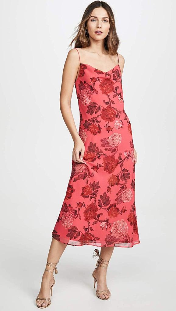 C/Meo Collective Variation Sleeveless Cowl Neck Slip Dress