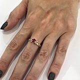 Ruby Engagement Ring With Unique Diamond Leaf Design