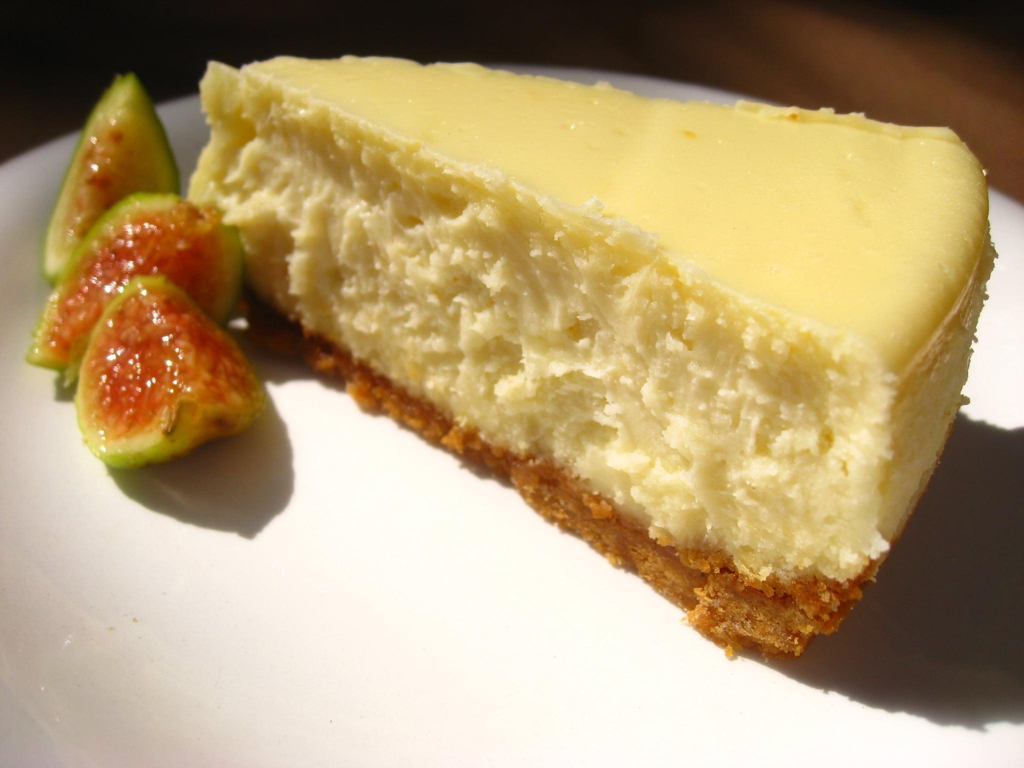 Goat Cheese Cheesecake 52 weeks of baking: lemon goat cheese cheesecake | popsugar food
