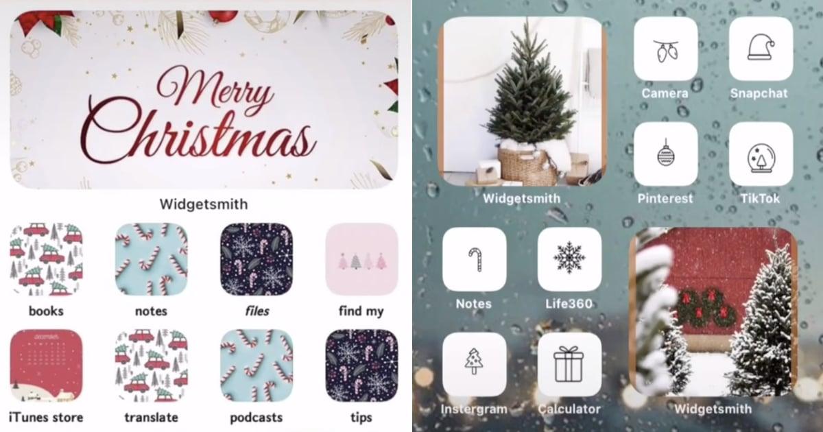 Christmas iOS 14 Home-Screen Aesthetic Ideas   POPSUGAR Tech