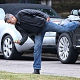 George Clooney Takes a Break and Plays Ball