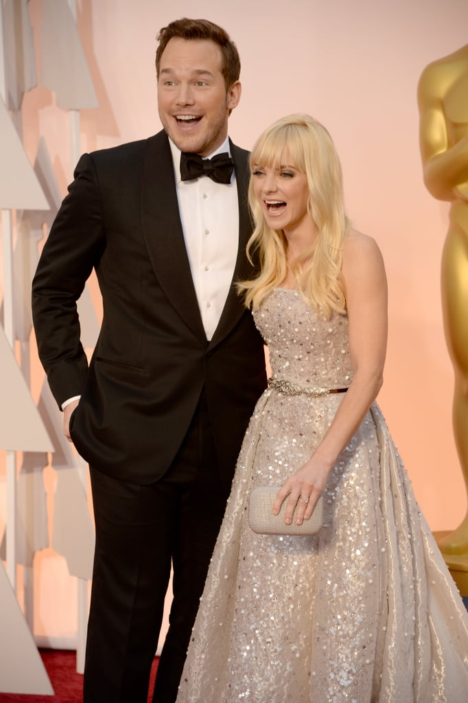 Chris and Anna flashed huge smiles when they walked the Oscars red carpet in February 2015.