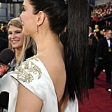 Sandra Bullock's cool ponytail at the Academy Awards