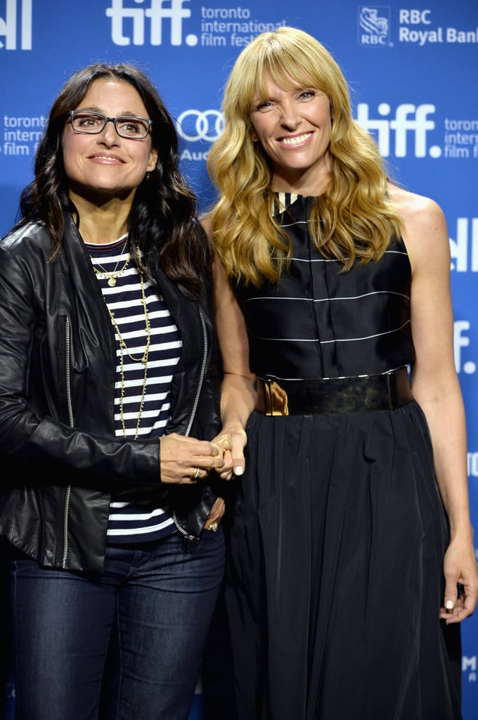 Julia Louis-Dreyfus and Toni Collette buddied up at their Enough Said press conference.