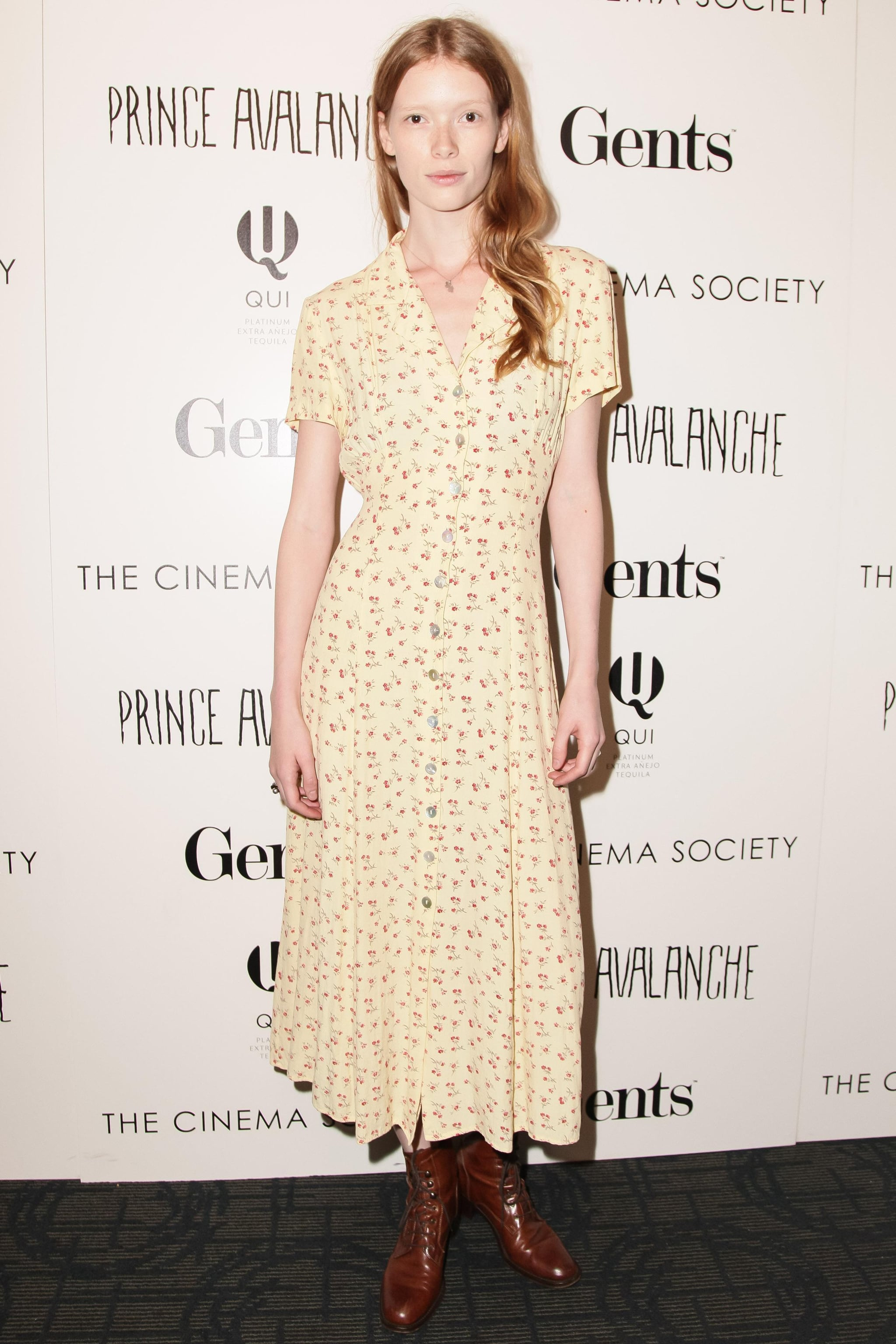 At the Prince Avalanche screening, Julia Hafstrom went bohemian in a floral maxi dress and boots.