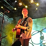 Chris Martin rocked out with Coldplay.