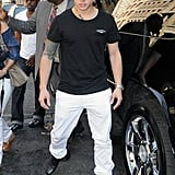 Casper Smart left lunch with Jennifer Lopez.