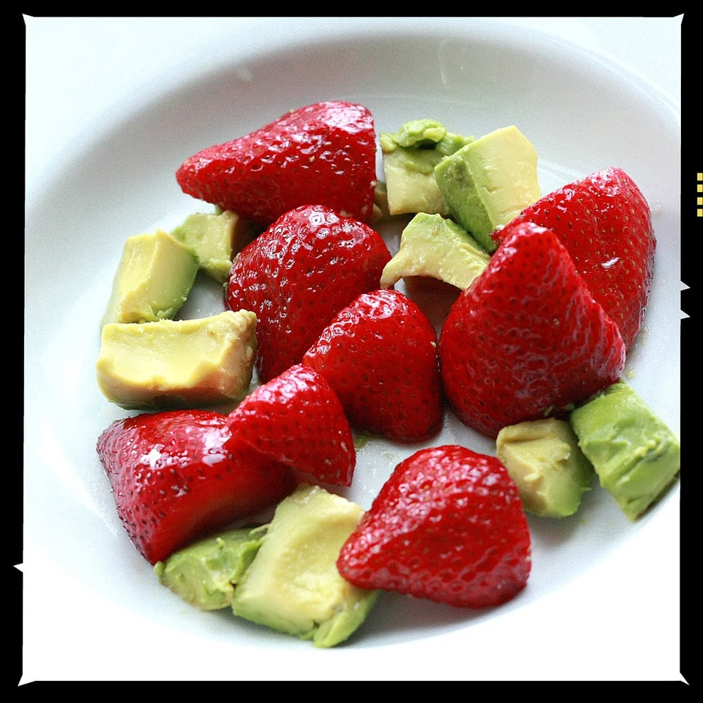 Avocado and Strawberries With Balsamic Vinegar