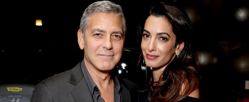 Amal Clooney's Floral Pants Aren't All That Fancy When You Zoom In