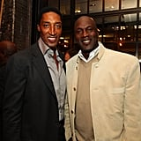 Michael Jordan and Scottie Pippen at Scottie's 47th Surprise Birthday Party in 2012