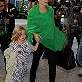 Angelina Jolie and Brad Pitt Land at LAX With All the Kids