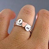 Custom Initial Sweetheart Rings