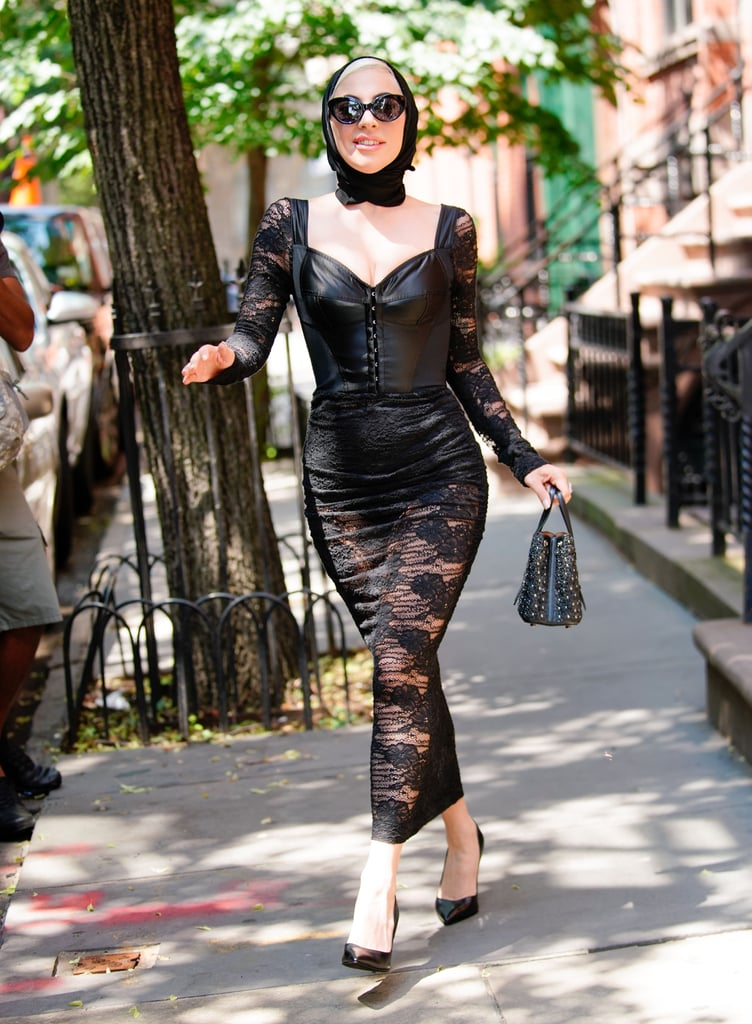 Wearing a sexy Dolce & Gabbana look.
