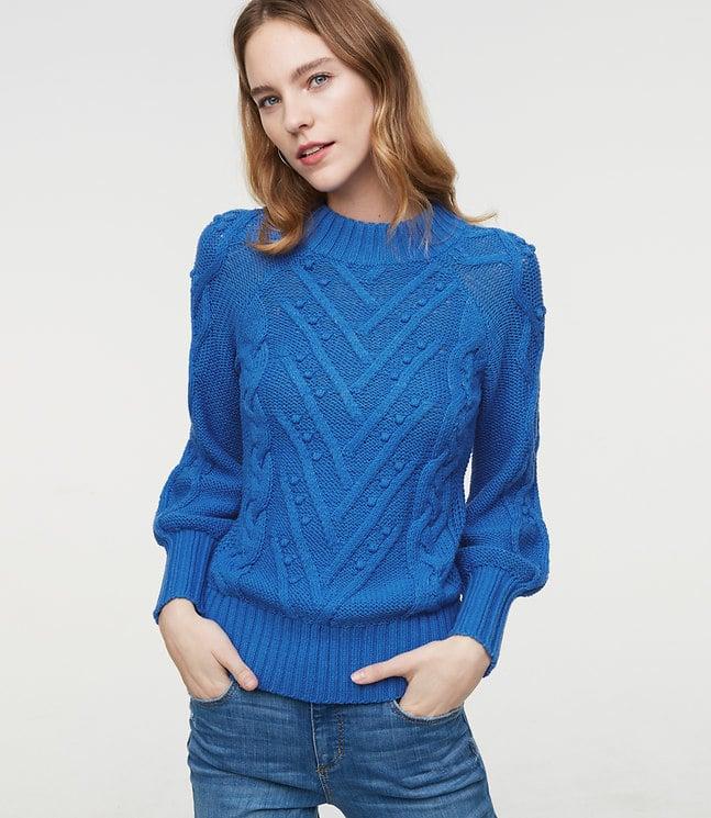 66371b38d9 LOFT Stitchy Cable Sweater