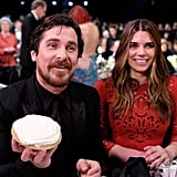 Pictured: Christian Bale and Sibi Blazic
