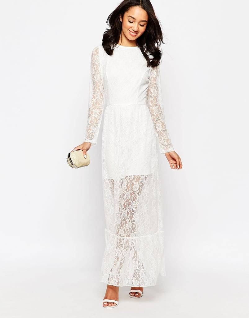 John Zack Petite Lace Overlay Maxi Dress, $88