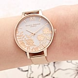 Olivia Burton Lace Detail Mesh Strap Watch
