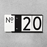 House Number Mounting Plate