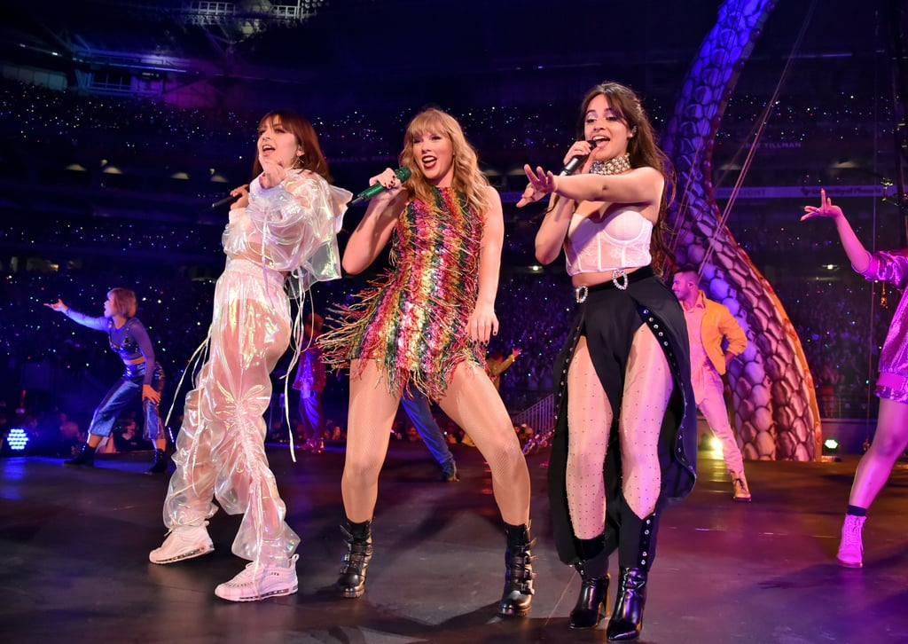 "The wait is officially over, Swifties! Taylor Swift kicked off her Reputation stadium tour in Glendale, AZ, on Tuesday night, and the first look is already blowing my mind. Not only does she have some amazing costumes, per usual, and an epic set list, but she is really taking this ""snake queen"" thing to a WHOLE new level. She even shares a sweet moment with her opening acts, Charli XCX and Camila Cabello, for a special rendition of ""Shake It Off."" Seriously, I haven't even attended the concert yet, and I'm already at a loss for words. If you don't have tickets yet, these pictures will have you slamming the purchase button. Get ready to freak out in 3, 2, 1 . . ."
