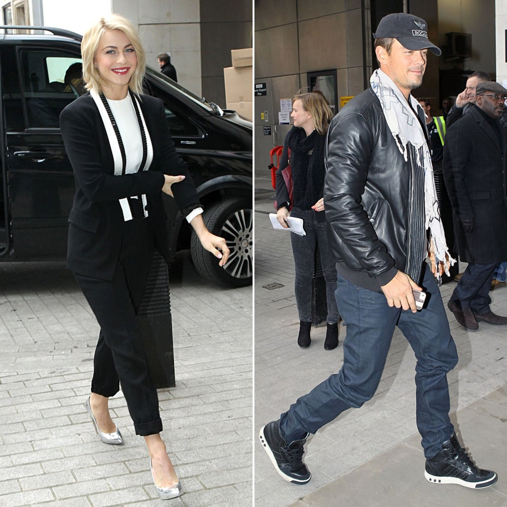 Julianne Hough and Josh Duhamel at BBC Radio in London