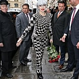 Lady Gaga visited the Galliera Museum in Paris on Monday.