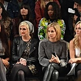 Eve, Ashlee Simpson, Leigh Lezark, and Tinsley Mortimer attended the Nicole Miller show at New York Fashion Week in February.