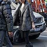 Pictures of Blake Lively on Set of Gossip Girl as She is Confirmed as Face of Chanel 2011-01-05 14:35:00