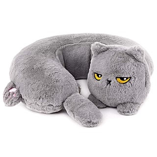 Heated Grumpy Cat Neck Pillow