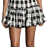 MISA Los Angeles Marielle Gingham Off-the-Shoulder Ruffle Mini Dress