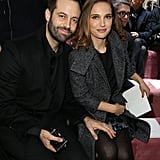 Natalie Portman brought along a special date — her husband, Benjamin Millepied — to the Christian Dior show during Paris Fashion Week on Monday.