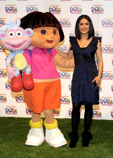 "Salma Hayek attends the ""Dora The Explorer"" 10th Anniversary Celebration at Nickelodeon Animation Studio"