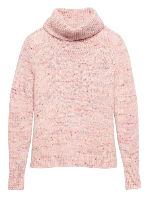 Confetti Wool-Blend Turtleneck Sweater