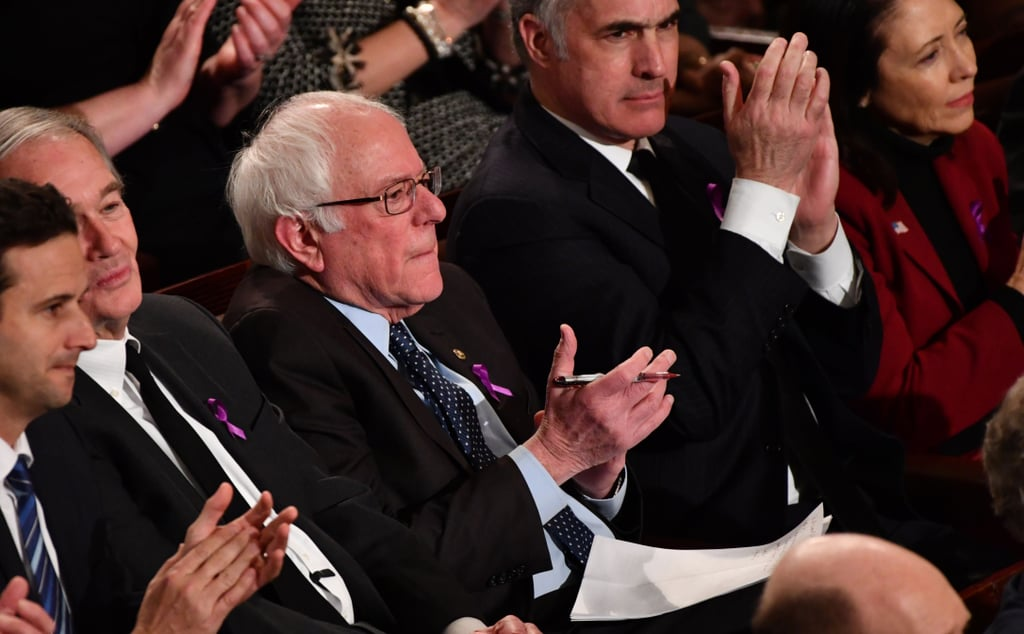 Bernie Sanders Clapping at the 2018 State of the Union