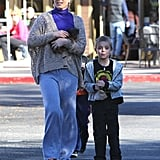 Britney Spears Stops at Starbucks With Her Sons in LA