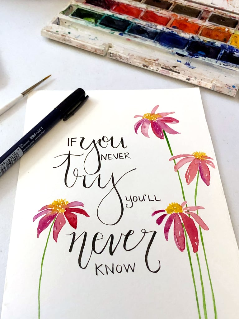 Mindful Lettering For Stress Relief