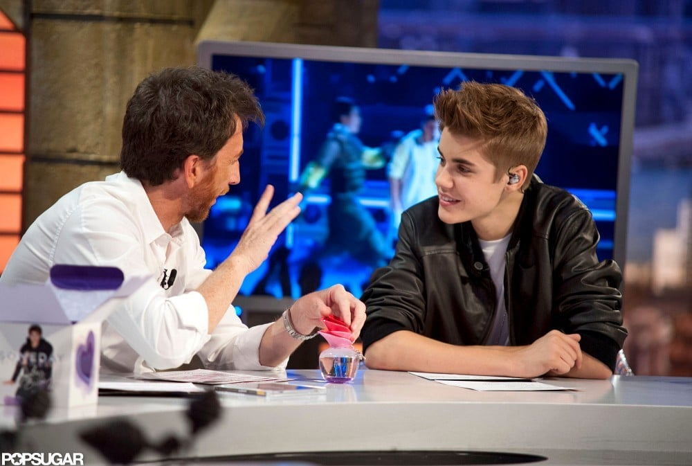 Justin Bieber answered questioned for the host of El Hormiguero.