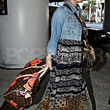 Pictures of Jessica Simpson and Eric Johnson at LAX