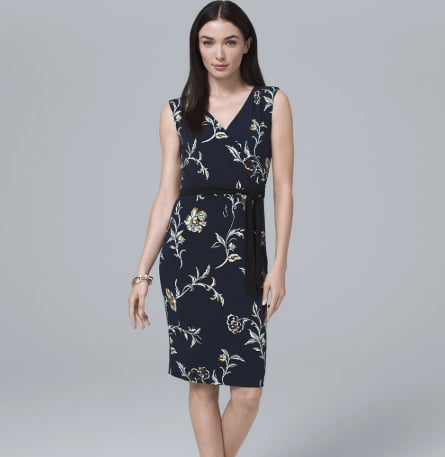 Reversible Faux Wrap Knit Dress