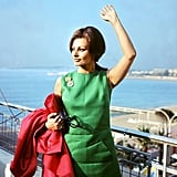 Sophia Loren waved to the crowd while in Cannes back in 1964.