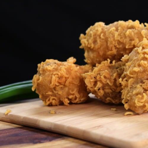 Ramen-Crusted Chicken Wings