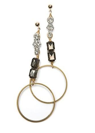 Beth Lauren Crystal Ring Earrings