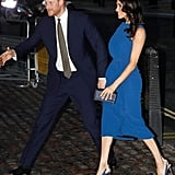 The duchess also wore a stunning Jason Wu dress in September, when she and Prince Harry attended the 100 Days to Peace concert.